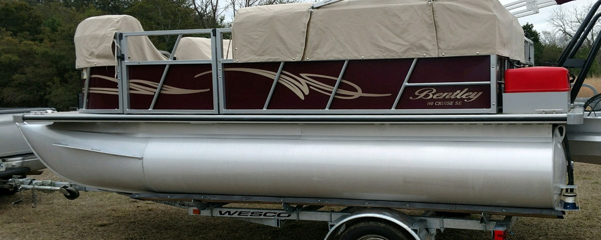 Bently pontoon boat after application