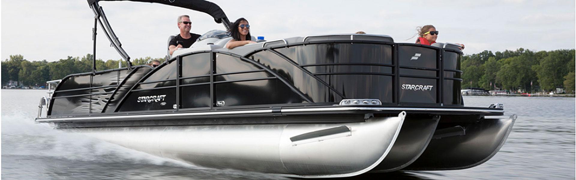 Starcraft pontoon action picture